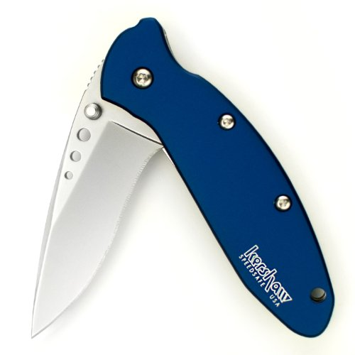 Kershaw 1620Nb Scallion Folding Knife (Navy Blue) With Speedsafe