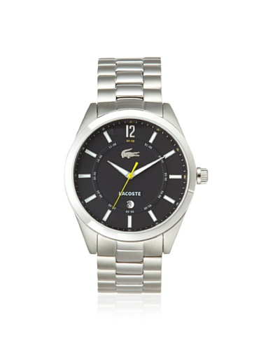 Lacoste Men's 2010578 Montreal Silver/Black Stainless Steel Watch