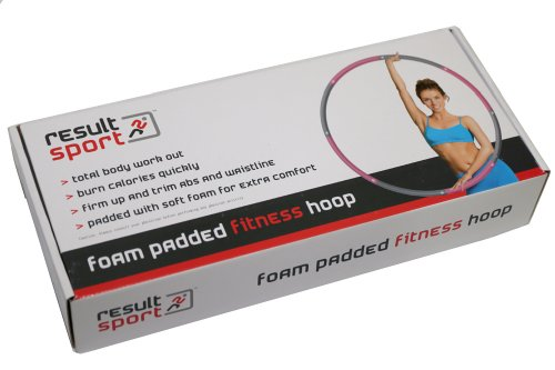 ResultSport The Original Foam Padded Level 1 Weighted 1.2kg (2.65lb) Fitness Exercise Hula Hoop 100cm wide