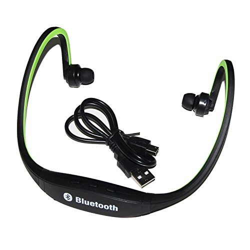 Gslc(Tm) Sports Universal Wireless Music Stereo Bluetooth Headset Universal Headset Earphone Headphone For Cellphones Such As Iphone, Nokia, Htc, Samsung, Lg, Moto, Pc, Ipad, Psp And So On & Enabled Bluetooth(Green)