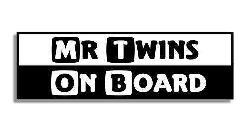 Mr Twins On Board - Car Bumper Sticker / Auto Aufkleber / Bedroom Door Sign Decal - Naughty Funny