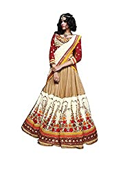 Indian styles gold white,net lehenga