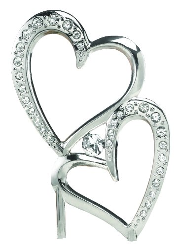 Hortense B. Hewitt Wedding Accessories Sparkling Love Cake Pick, 7-Inch Tall
