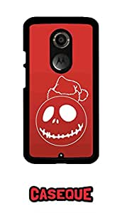 Caseque Red Santa Back Shell Case Cover For Moto X (2nd Gen.)