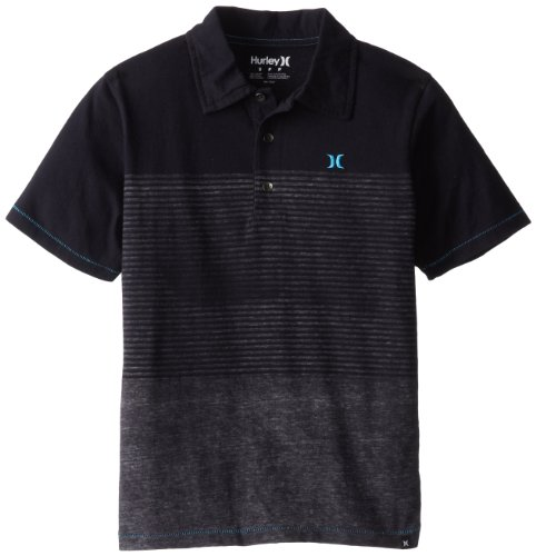Hurley Boys 8-20 Blockade Y.D. Marled Polo, Grey Heather, Large
