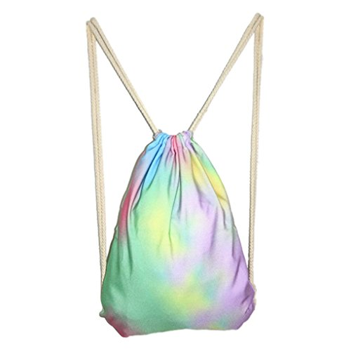 Girls Fashion Candy Color Lightweight Drawstring Backpack