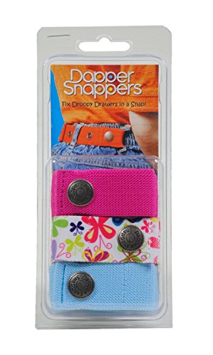 Dapper Snapper Baby & Toddler Adjustable Belt 3 Pack Hot Pink, Butterflies & Turquoise