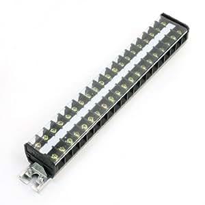 25mm DIN Rail 20 Pole 660V 20A Barrier Screw Terminal Strip TD-2020