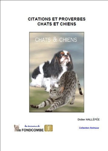 Couverture du livre citations et proverbes - chats et chiens
