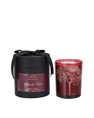 D.L. & Co. 18-Oz. Scarlet Oak Candle, Red Etched