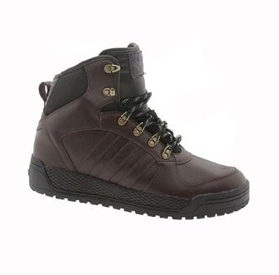 Buy Adidas Originals Mens Winter Ball Hiking Boot Shoes-Dark Brown Black by adidas