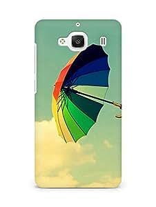 Amez designer printed 3d premium high quality back case cover for Xiaomi Redmi 2 Prime (Colorful Umbrella Field Clouds)