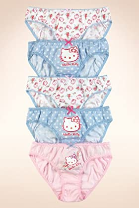 5 Pack - Older Girls&#39; Pure Cotton Hello Kitty Briefs