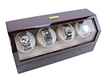 Heiden Quad Watch Winder in Cherry