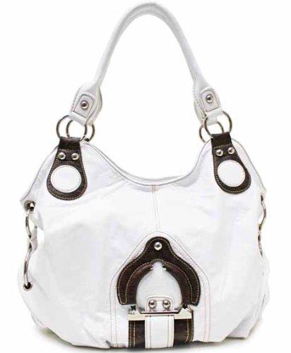 Designer Style Leicester Satchel/Hobo - White