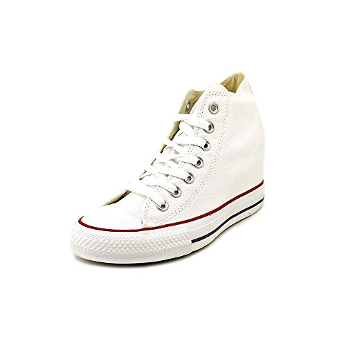 Converse Women's Chuck Taylor Lux Mid White Basketball Shoe 8 Women US