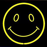 HOZER Professional 17*14 Smile Decorate Neon Light Sign Store Display Beer Bar Sign Real Neon Signboard for Restaurant Convenience Store Bar Billiards Shops