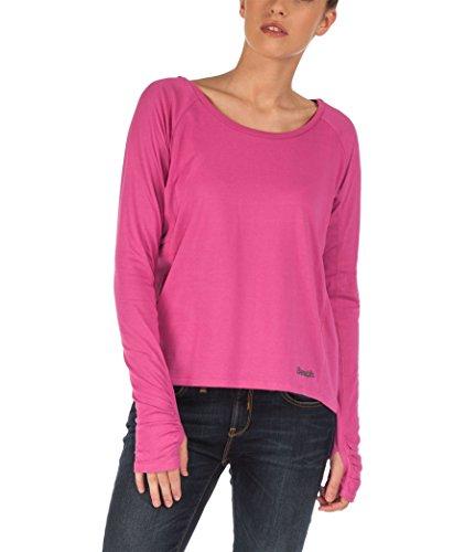 Bench-Maglia da donna a manica lunga, Donna, Bekleidung Long Sleeve Steadfast, rosa viola, S