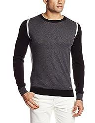 GAS Men's Cotton Blend Sweater (8059890901104_75805_X-Large_1987-Storm Melange)
