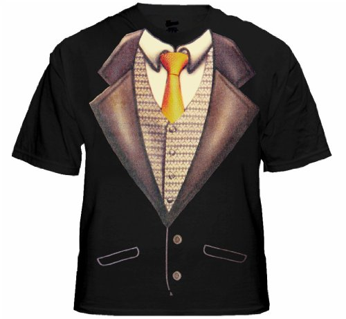 Deluxe Tuxedo T-Shirt With Gold Tie #4