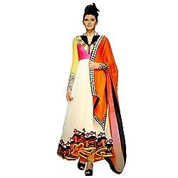 Ustaad Auto Rickshaw Mumbai Se Anarkali Georgette Semi-stitched Dress Material