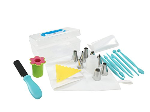 Cake Decorating Tools Kit Advanced 26 Piece Set - Comes with Cake, Cupcake & Cookie Frosting Tips