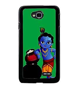 Krishna 2D Hard Polycarbonate Designer Back Case Cover for LG L70