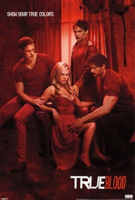 True Blood Show Your True Colors Red TV Poster Print - 24x36 Television Poster Print, 24x36
