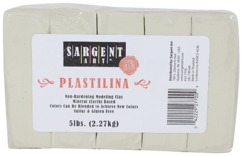 sargent-art-plastilina-modeling-clay-5-pound-cream