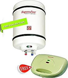 Signora Care SC-SWH-2509 2000 Watts Storage Water Heater 25 Litres --Creamish White