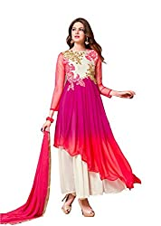 Aryan Fashion Store Women's Unstitched Dress Material (Multi-Coloured)