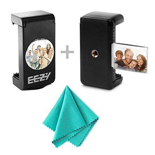EEZ Y Premium Products Tripod Mount Adapter with Mirror by EEZ Y Cell Phone Accessories for Large & Small Smartphones Attach it to Any Selfie Stick, Monopod or Tripod Fits All Apple, Android,