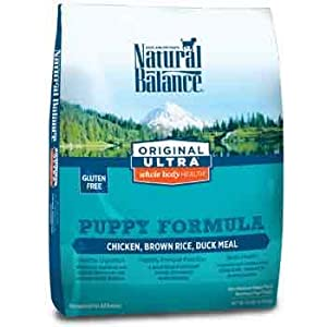 Natural Balance Original Ultra Whole Body Health Chicken, Brown Rice & Duck Meal Puppy Food, 14 lbs.