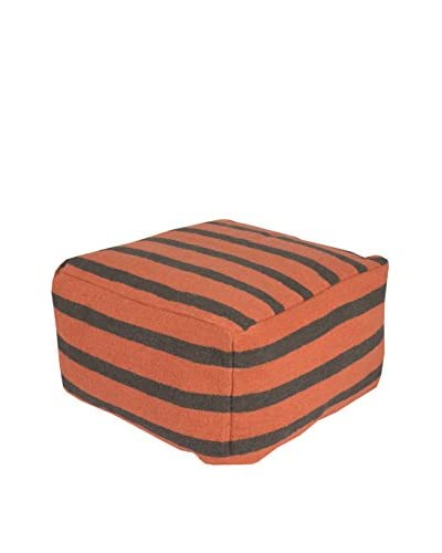 Surya Frontier Pouf, Orange