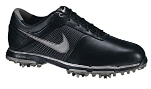 Nike Golf Men's Nike Lunar Control Golf Shoe,Black/Metallic Silver,10 W US