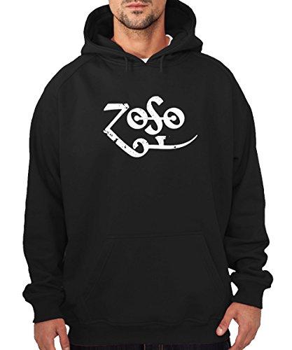 Zoso Felpa con cappuccio nero Black XL