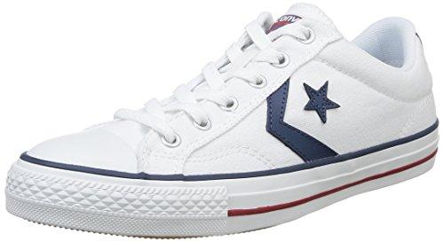 Converse, Star Player Adulte Core Canvas Ox, Sneaker, Unisex - adulto, Bianco (Blanc/Noir), 43 EU