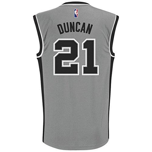 Tim Duncan San Antonio Spurs Adidas NBA Replica Jersey - Gray