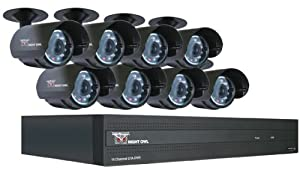 Night Owl Security STA-168  Night Owl Security 16 Channel STA DVR with 8 Night Vision Cameras 500 GB HD and Smartphone Viewing, 30-Feet