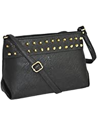 Ladies Black Colored Designer Sling Bag By Minar