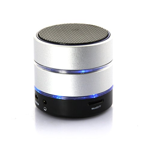 Dbpower® Portable Led Romantic Light Rechargeable Bluetooth Wireless Speaker With Mic Hands Free For Iphone Ipod Pc Mp3 Mp4 Mobile Phone Bluetooth Devices (Silver)
