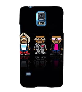 PrintVisa Cool Cartoon Men 3D Hard Polycarbonate Designer Back Case Cover for Samsung Galaxy S5 Mini