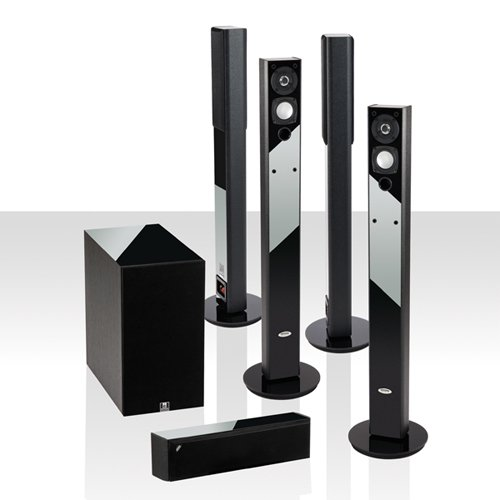 "Offer: Save $200 Crystal Acoustics Bpt5-8Bla Ultra Slim 5.1 System. Bipolar Technology Fronts And Surrounds With 8"" Ultra Compact Subwoofer"