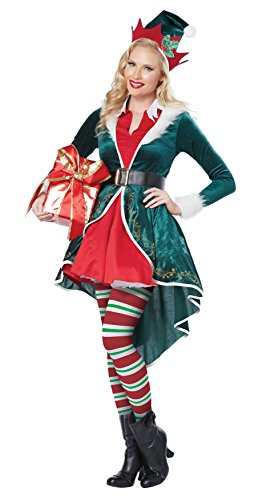 [California Costumes Women's Sexy Elf Adult, Green/Red, Small] (Green And Red Elf Costumes)