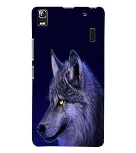 ColourCraft Scary Fox Look Design Back Case Cover for LENOVO A7000 PLUS