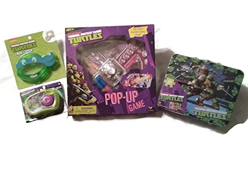 [Teenage Mutant Ninja Turtle Bundle - 1 x TMNT Pop-up Game, 48pc Puzzle in Lunch Box, Toy Camera and Crust Cutter - (4] (Nickelodeon Teenage Mutant Ninja Turtles Treat Bags)