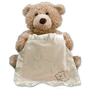 GiftsForYouNow Embroidered Plush Peek-A-Boo Bear - Personalized - from (Color: Beige)