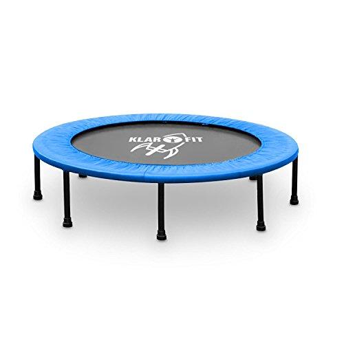 Klarfit Rocketbaby tappeto elastico trampolino sportivo tondo montabile (96 CM, max 100 KG, imbottitura in gommapiuma, rivestimento lavabile, kit montaggio, bambini dai 3 anni) - blu