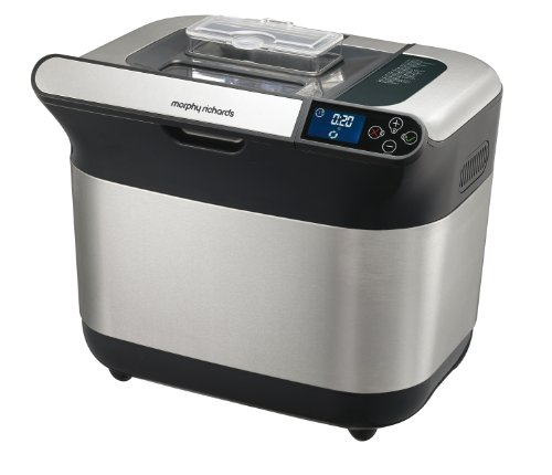 Morphy Richards Premium Plus 48319 Breadmaker, Stainless Steel