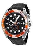 Invicta Pro Diver Men's Quartz Watch with Black Dial Chronograph display on Black Pu Strap 16230
